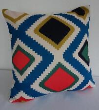 Blue Black Grey Red White Geometric Cushion Cover 45cm