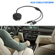 AUX to USB 3.5mm Cable Bluetooth Music Adapter To Fits BMW / Mini Cooper AC926