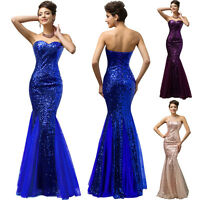 Women Formal Long Prom Mermaid Dress Evening Party Maxi Bridesmaid Wedding Gown