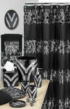 Sinatra Shower Curtain sequins design popular bath - Black Fabric