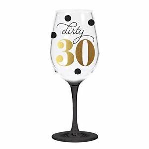 Dirty 30 Acrylic Wine Glass, C.R. Gibson 30th B'day