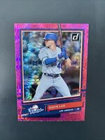 2020 Donruss Pink Fireworks Parallel Gavin Lux RC The Rookies R-8 LA Dodgers