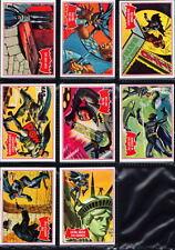 1966 Topps BATMAN A Red Bat PUZZLE BACK CARDS #1A 6A 14A 19A 25A 35A 42A 44A
