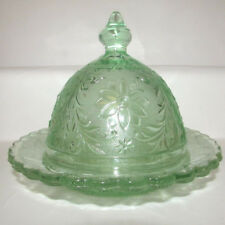 Tiara Chantilly Green Round Domed Butter Dish Indiana Sandwich Cheese