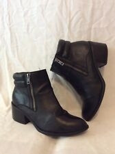 Limited Edition Black Ankle Leather Boots Size 5.5