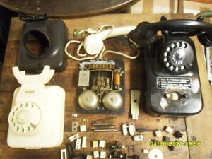 alter Tischmünzer, W49 Telefon + diverse Ersatzteile