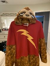 Flash Sloth Adult Hooded Pajamas Zootopia Briefly Stated Size Small Zip-up Pjs S