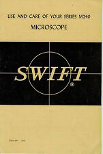 SWIFT Series M240 Micoscope Owner Instruction Manual   OEM   NOT a Copy!
