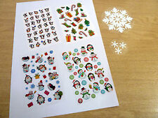 Snowman Penguin Christmas Stickers. Variety of Children Kids Xmas Labels for
