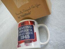 New listing 75th Birthday Gift - Making America Great Since 1945 - Tea Coffee Mug - Usa Flag