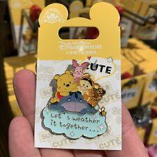 Shdr Disney Pin 2019 winnie the pooh piglet tigger eeyore Shanghai Disneyland