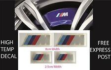 BMW M BRAKE CALIPER DECAL HIGH TEMP (8cm & 2.5cm) Sticker Set x 4