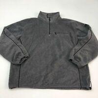 Arrow Quarter Zip Jacket Men's 2XL XXL Long Sleeve Gray Fleece 100% Polyester
