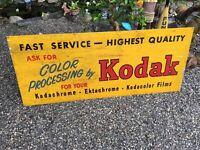 KODAK VINTAGE SIGN CAMERA Enamel Kodachrome Ektachrome Kodacolor Mid Century #2