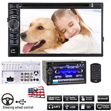 "Car Stereo DVD Player 6.2"" 2DIN In-dash Bluetooth CD MP3 HD FM Radio TouchScreen"