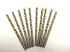 "7/64"" TITANIUM COATED HSS DRILL BITS FOR WOOD, METAL & PLASTIC, PACK OF 10"