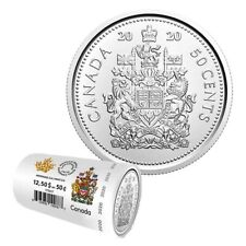 2020 CANADA 50 Cent Half Dollar FIRST STRIKE UNC Coin From Special Wrap Roll