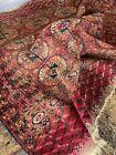Antique Vintage Persian Blue Red Bokhara Square Carpet Rug 120cm X 107cm