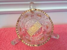 Vintage 3 Handle Candy Dish from Bedford, Indiana Circa 1907