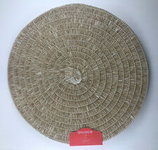 New listing 4 Pack Of Opalhouse Placemats - Round, Basket Weave, Natural Finish, 15 Inch.