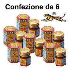 Confezione da 6 Balsamo di TIGRE Rosso ORIGINALE WILD TIGER (NO CINA) in ITALIA