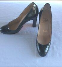 Christian Louboutin Metalic Dark Green Gold Heel Shoes