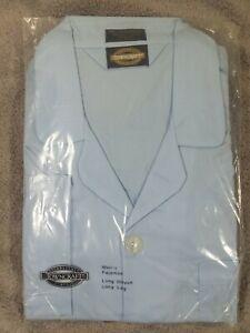Vintage jc penney towncraft Mens Pajamas large long sleeve long leg blue NEW