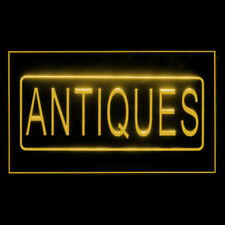 200034 Antiques Shop Collection Sale Jewellery Furniture Display Led Light Sign