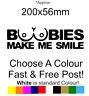 Boobies Make Me Smile sticker funny car decal bumper sticker rude