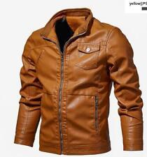 Moda para Hombre Abrigo de piel para Motocicleta Abrigos Chalecos Con Cuello Punk Prendas de abrigo