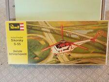 Vintage Revell Sikorsky S-55 Deutsche Rettungsflugwacht H-174 1:48 1973  Rare