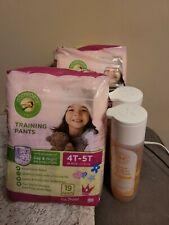 2x Comfort Girls Toddler Training Pants 4T/5T Bundle w/ Honest Co Shampoo/Bodyws