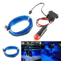 Car Interior LED Decor Wire Strip Atmosphere Cold Light Blue Lamp Accessory 2M W