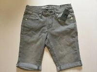 New With Tags Mossimo Gray Shadow Denim Mid-Rise Bermuda Shorts Size 0