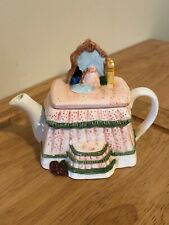 Decorative Miniature Figurine One Cup Teapot Pink Vanity Dressing Table Used