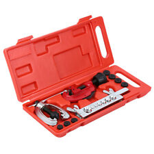 Double Flaring Brake Line Tool Kit Tubing Car Truck Tool Set w/ Mini Pipe Cutter