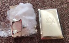 VTG 6 Pcs LORD & TAYLOR SILVERPLATE NAPKIN RINGS IN SILVERPLATE STORAGE BOX F/S