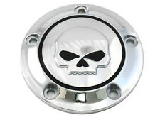 Chrome Willie G Skull Timer Points Ignition Cover for Harley Twin Cam 00-17