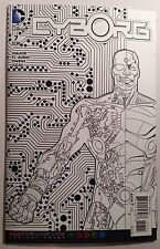 Cyborg Man In The Machine Comic Book #7 Adult Colouring Book Variant Cover