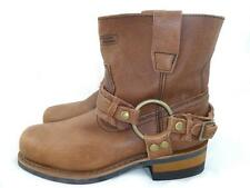 XELEMENT USED WOMEN'S 6 ADVANCED BROWN LEATHER HARNESS MOTORCYCLE ANKLE BOOTS