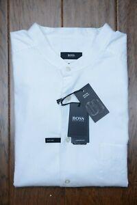Hugo Boss $278 Frans Men's Relaxed Fit Thomas Mason Superfine Fabric Shirt 46 18