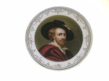 """C.1850 HAND PAINTED PORCELAIN PLAQUE """"NOBLE MAN"""" 65MM PLACEMENT CARD HOLDER 1OF4"""