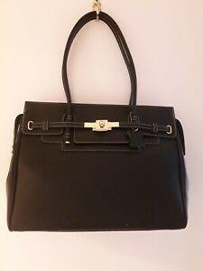 Designer Ladies Leather Italian Briefcase Handbag M.Rossini Italy Brand NEW