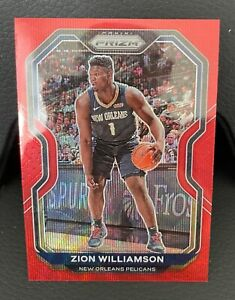 2020-21 Panini Prizm Zion Williamson Ruby Wave
