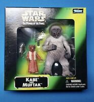 """STAR WARS KABE AND MUFTAK MAIL AWAY POWER OF THE FORCE 3.75"""" HASBRO KENNER a4"""