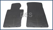 Genuine BMW Rubber Floor Mats All Weather Black Front OEM E46 325xi 330xi 825501