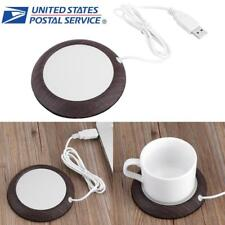 Wood Grain USB Heat Heater Milk Tea Coffee Mug Warmer Office Cup Mat Pad Coaster