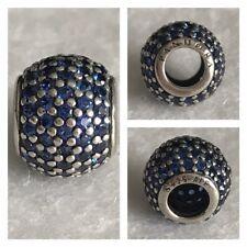 PANDORA BLUE SPARKLING PAVE BALL CHARM REF 79105NCB S925 ALE RRP £55.00