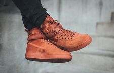 Nike SF Air Force 1 Dusty Peach Sneaker Boot 864024 204 Mens Size 9.5
