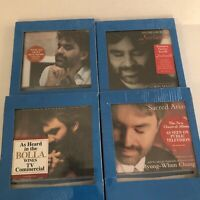 ANDREA BOCELLI  LOT 4 CD's New As Heard on Television Music Classical Sugar SRL